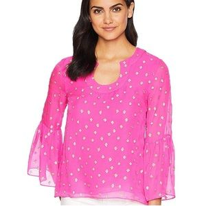 """LILLY PULITZER """"ARMORY """" TUNIC TOP IN  SIZE XL"""